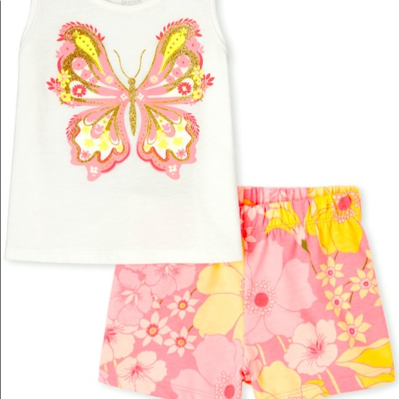 NWT Butterfly 2pc outfit